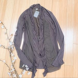 NWT!  Anthropologie embroidered cardigan shirt, M.